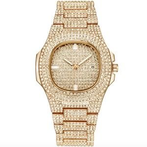 Other - Iced Out Gold Diamond AP Watch Luxury Hip Hop